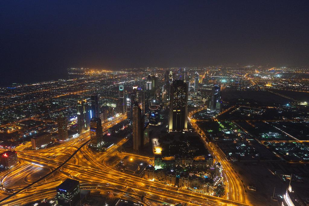 Bur Dubai shortly after sundown