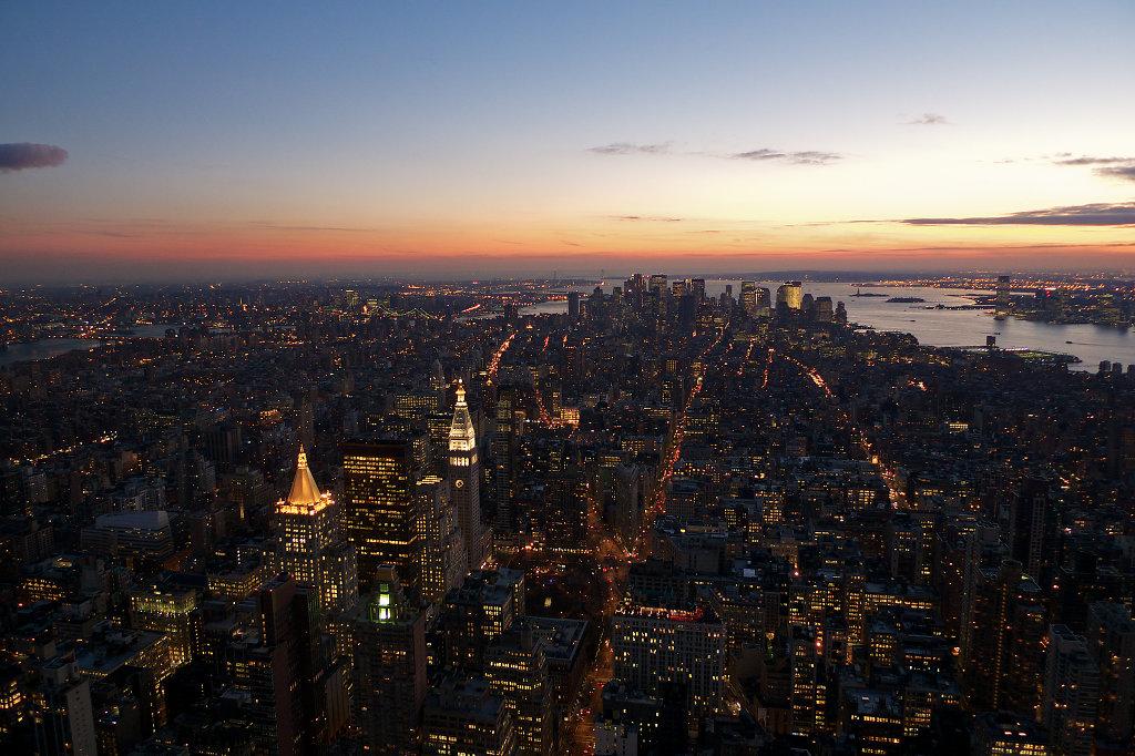 Sundown over lower Manhattan