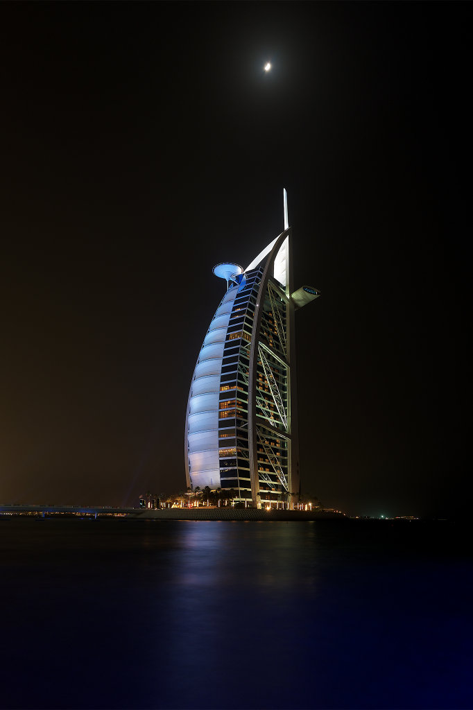 Burj al Arab at night