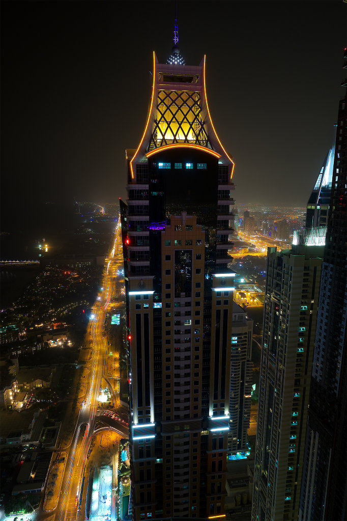 Emirates Crown Tower at night