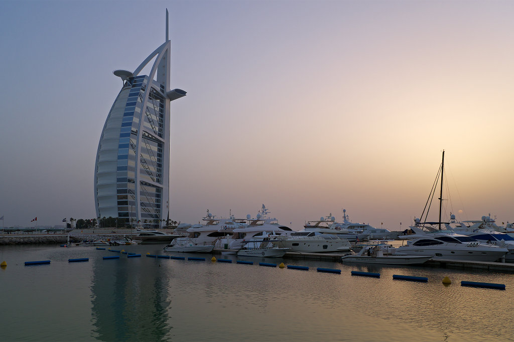 Burj Al Arab at sundown