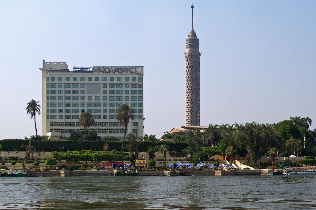 The Cairo Tower & the Novotel Cairo El Borg