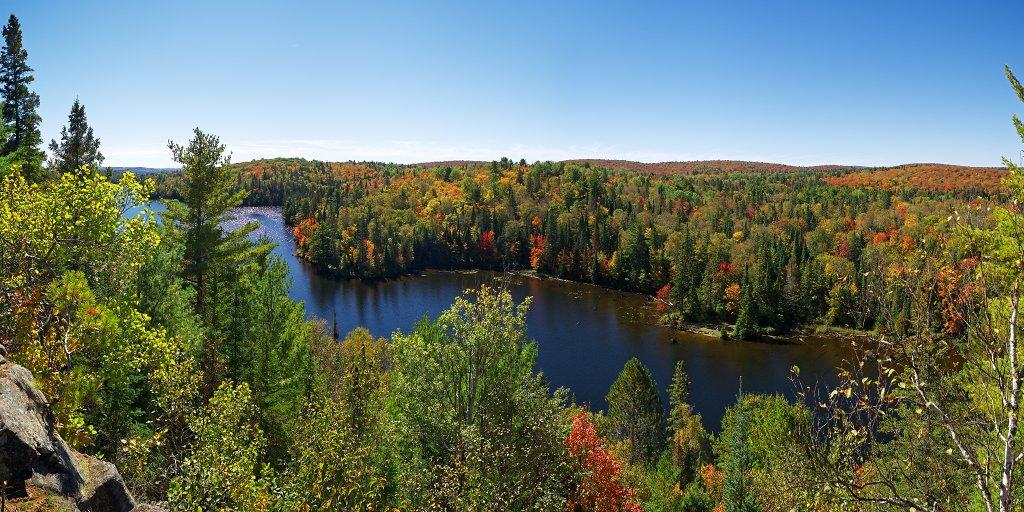 Fall foliage between Joe Lake and Tepee Lake