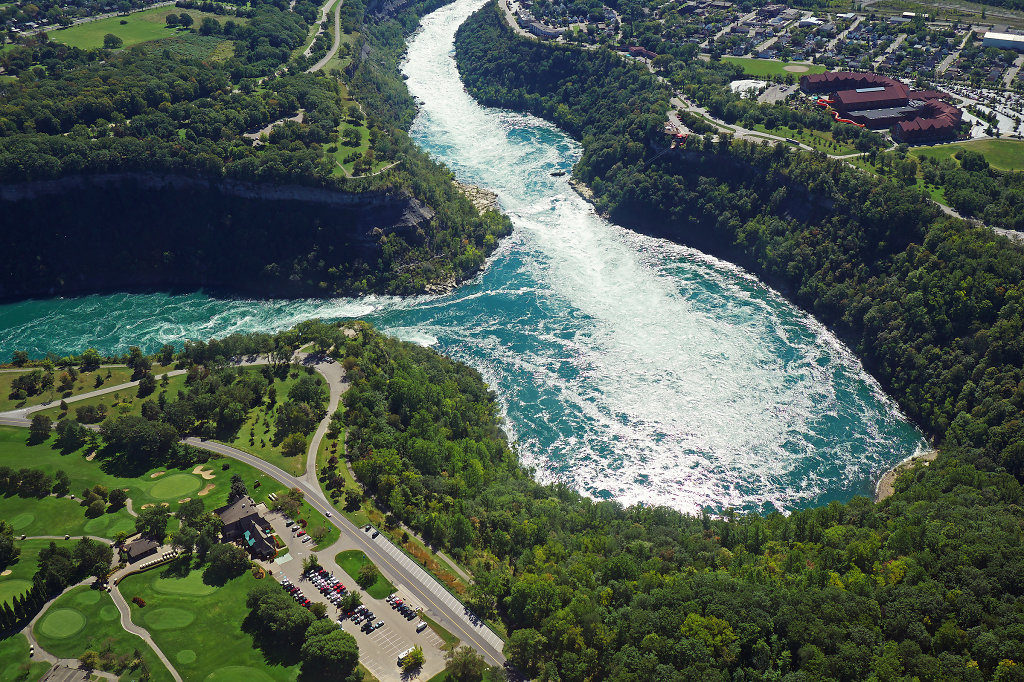 Aerial view of the Niagara Whirlpool