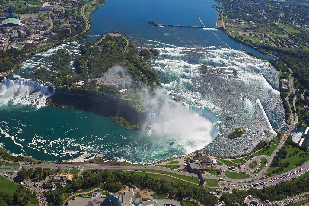 Aerial view of the American & Horseshoe Falls